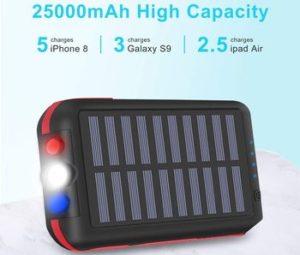 Batterie Externe Chargeur Solaire 25000mAh