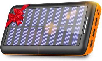 KEDRON Batterie Externe, 24000 mAh Chargeur Solaire