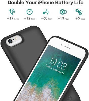Kilponen Coque Batterie pour iPhone 6-6S-7-8
