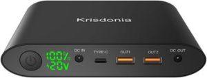 Krisdonia 25000mAh chargeur externe pour PC portable